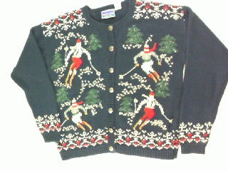 Downhill Slalom-Small Christmas Sweater