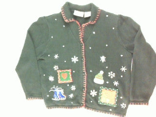 Red Hot Winter- Medium Christmas Sweater