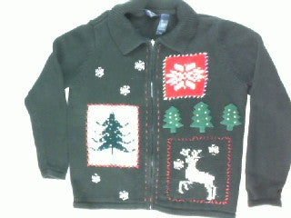 Sparkle On My Reindeer-Medium Christmas Sweater
