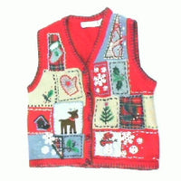 Patched Up Holiday-X Small Christmas Sweater
