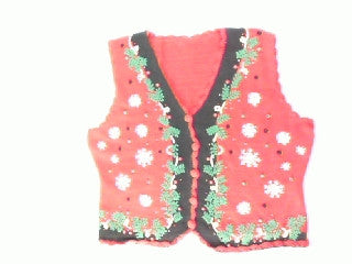 Festive In Floral-Small Christmas Sweater