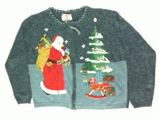 Old World St. Nick- Large Christmas Sweater
