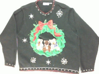 Beary Friendly Welcome-Large Christmas Sweater
