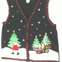Snowmen Sleigh Ride-Large Christmas Sweater