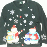 Sweet Snowman Family-Small Christmas Sweater