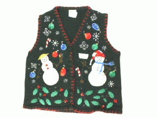 Shiny Snowman- Small Christmas Sweater