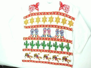 Cow  Girl Up- Medium Horse Rodeo Sweater