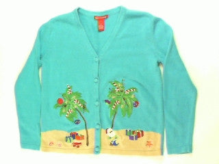 Candy Cane Beach Vacation-X Small Christmas Sweater