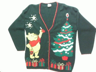 Reaching To The Top Of The Tree-Small Whinnie the Pooh Sweater