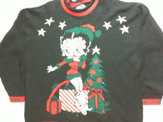 Surprise For You-XX Large Betty Boop Sweater