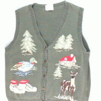Lil Cabin In The Wildlife-Small Fall Sweater