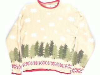 A Walk In The Forrest- X Small Winter Sweater