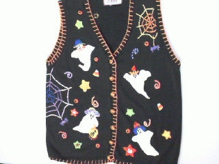 Goblins In Ghostly Actions- Small Halloween Sweater
