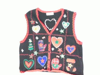 Heart of Winter-Small Christmas Sweater