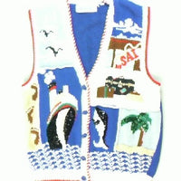 Smooth Sailing- Medium Sailboat Sweater