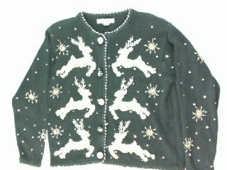 Bedazzled Reindeer- Small Christmas Sweater