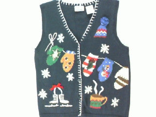 Hanging Winter Clothes Up To Dry- X Small Christmas Sweater