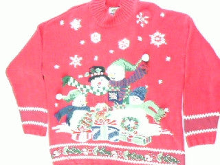 Family Gift Exchange- Large Christmas Sweater