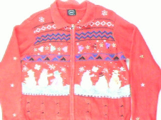Snowman Gathering Time-Medium Christmas Sweater