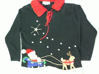 Dash Away Dash Away Off We Go- Small Christmas Sweater