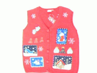 Winter Blue Holiday- Small Christmas Sweater