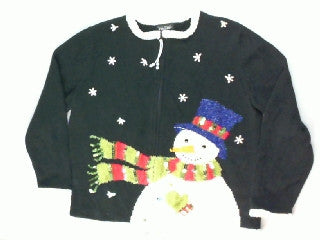 Windswept Snowman-Small Christmas Sweater