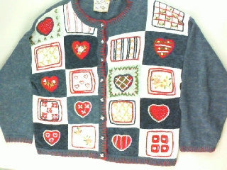 An American Heart Throb- Large Valentines Sweater