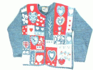 Full Of Heart-Large Valentines Sweater