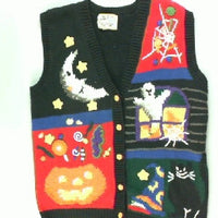 Scary Spider webs-Small Halloween Sweater