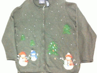 Strung In The Lights- Large Christmas Sweater