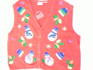 Snowman Flurries- Large Christmas Sweater