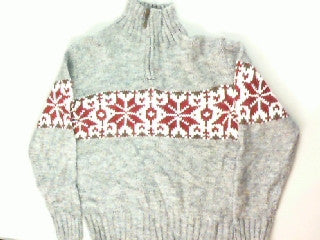 Snuggled In Snowflakes-Medium Christmas Sweater