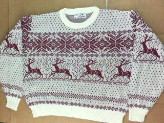 Winter Deer Crossing- Large Christmas Sweater