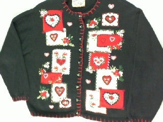 Country Hearts- Large Christmas Sweater