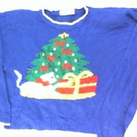 Pawing For Presents- Large Christmas Sweater