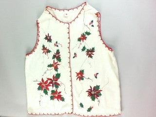 Powerful Poinsettias-Large Christmas Sweater