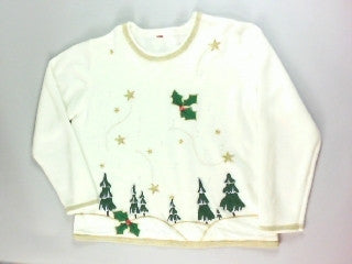 White Snowy Hills- Large Christmas Sweater