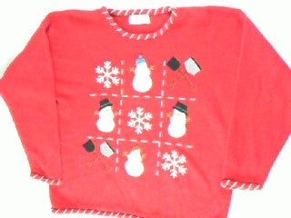 Tic Tac Snowman- Large Christmas Sweater