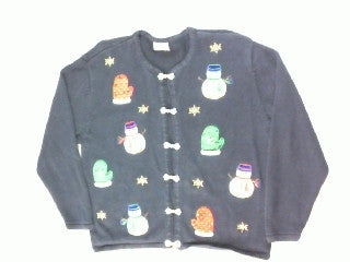 Snowman Who Wear Mittens- Medium Christmas Sweater