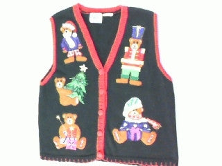 Dress Up Bears- Small Christmas Sweater