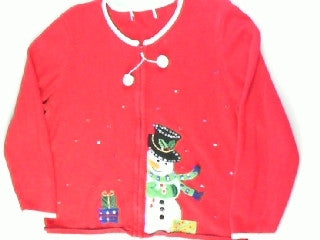 Sneaky Snowman-Medium Christmas Sweater