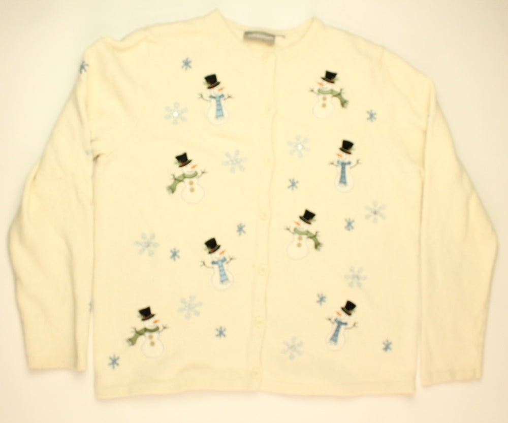 Floating Snowmen- Small Christmas Sweater