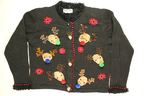 Reindeer Tryouts- Small Christmas Sweater