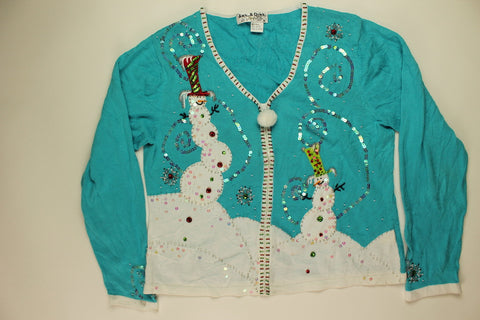 Shaking Up A Snowman- Small Christmas Sweater