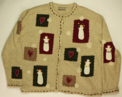 Folk Art Winter- Medium Christmas Sweater