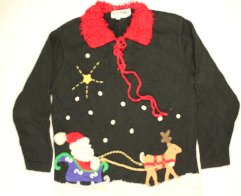 Gearing Up The Sleigh- Small Christmas Sweater