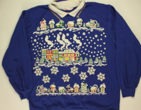Snowvillage Like Our Village- Large Christmas Sweater