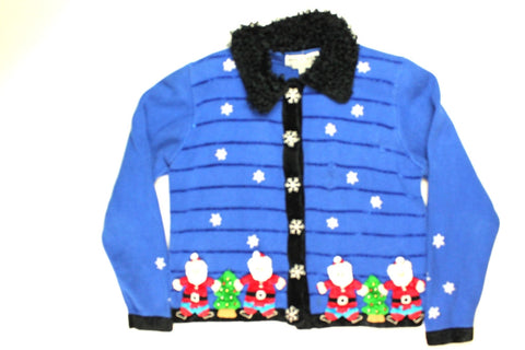 Snowing On Santa- Small Christmas Sweater