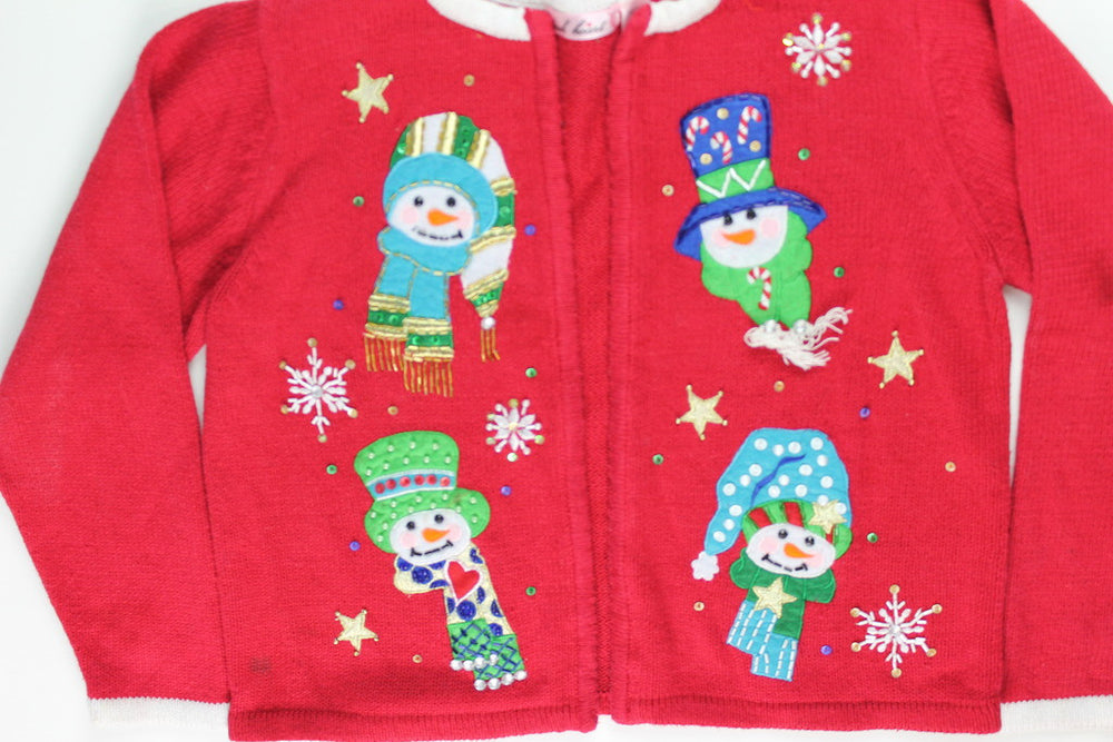 Snowmany Face- Kids Christmas Sweater