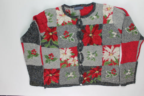 Poinsettia Garden- Small Christmas Sweater